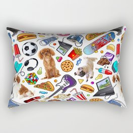 teenage explosion 2 Rectangular Pillow
