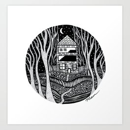 ONE FALL NIGHT Art Print