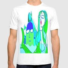 aquaman and the mermaid MEDIUM Mens Fitted Tee White