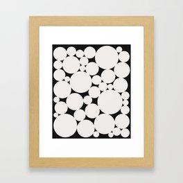 Circular Collage - Black & White II Framed Art Print