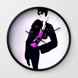 A Star In The Limelight Illustration By James Thomas Ryan Wall Clock