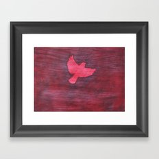 Red Flight Framed Art Print