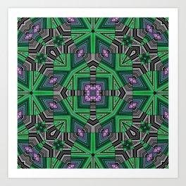 Abstract, modern, geometric, multicolored pattern Art Print