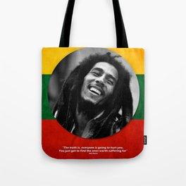 PEACE - LIFE - REGGAE Tote Bag