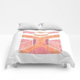Vitruvian Man Da Vinchi - abstract minimalist people 1 Comforters