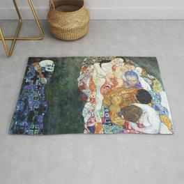 Gustav Klimt Death And Life Rug