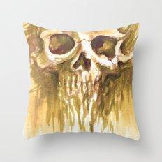 Skull Sketch Throw Pillow