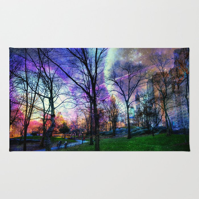Planets in Central Park Rug