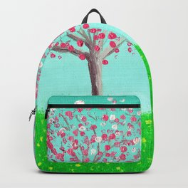 Sisters - Dogwood Trees in a Spring Meadow Backpack