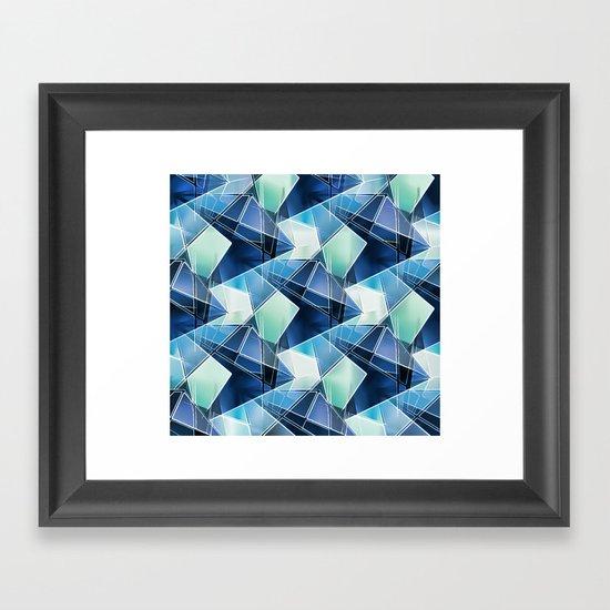 Iced Geometric Framed Art Print