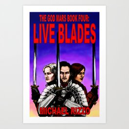 Live Blades cover Art Print