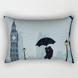 London vintage poster travel Rectangular Pillow