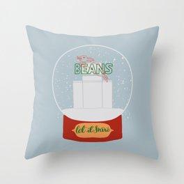 Christmas in Saginaw - Jack Rabbit Beans Throw Pillow