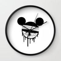 mickey Wall Clocks featuring Mickey by ConvictionArt