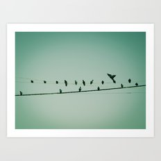 Life on the wire Art Print