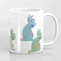 rabbits Mugs featuring rabbits by Geckojoy