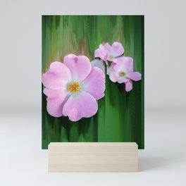 Pink Wild Roses Mini Art Print