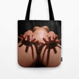 3851-AJ Enter the Feminine - An Explicit Abstract Portrait of Two Naked Lovers - by Chris Maher Tote Bag