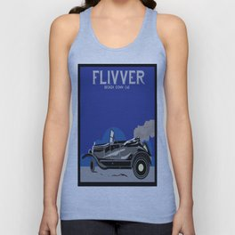 Art Deco Car Advertisement Flivver Unisex Tank Top