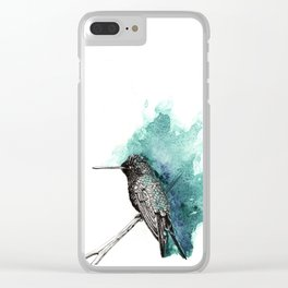 Emerald Hummingbird Clear iPhone Case
