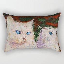 White Cats Rectangular Pillow
