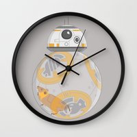 hamster Wall Clocks featuring Hamster BBall by Ashley Hay