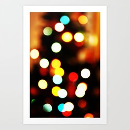 Christmas Bokeh Art Print