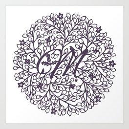 M - monogrammed initial M print Art Print