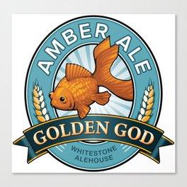 Golden God Amber Ale label Canvas Print