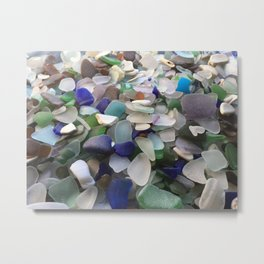 Sea Glass Assortment 2 Metal Print