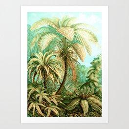Vintage Tropical #society6 #buyart #painting Art Print