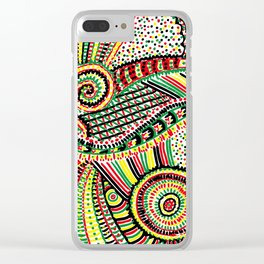 rasta Clear iPhone Case