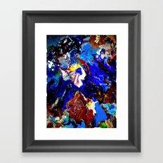 That guy in the sky Framed Art Print