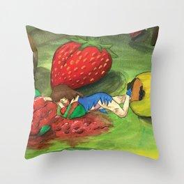 Raya's Fruit Coma Throw Pillow