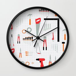 Tool Wall Wall Clock