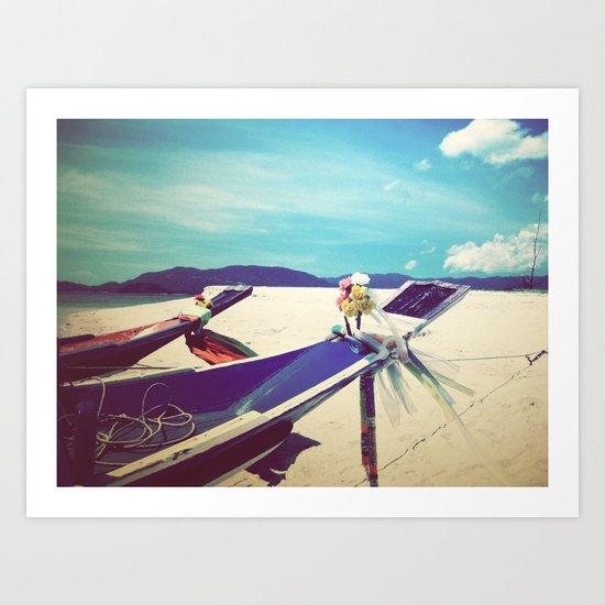 Longboat, Thailand II Art Print
