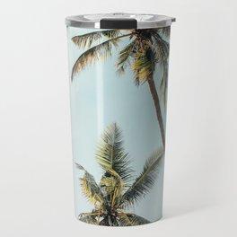 Palm Tree Beach Summer Travel Mug