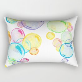 Rainbow Pastel Bubbles Floating Rectangular Pillow