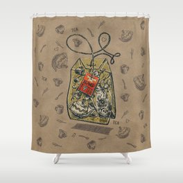 Tea bag Shower Curtain