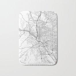 Colorado Springs Map White Bath Mat