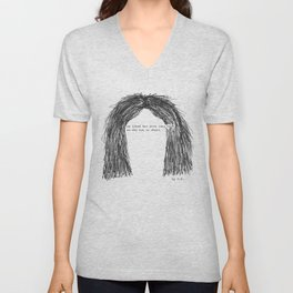 Short hair (famous tumblr quote) by Pien Pouwels Unisex V-Neck