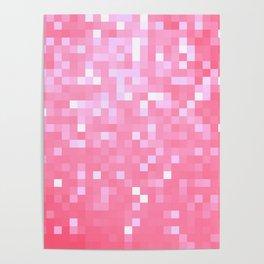 Bubblegum Pink Pixel Sparkle Poster