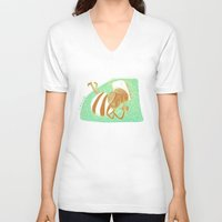 pride V-neck T-shirts featuring pride by ana javier