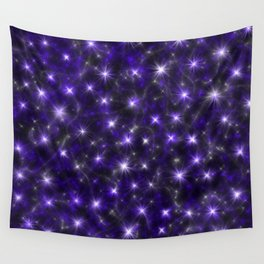 Ultra Violet Stars in a Purple Galaxy Wall Tapestry