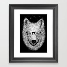 WHITE SPECTACLE Framed Art Print