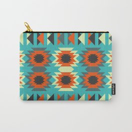 Ethnic triangles in blue Carry-All Pouch