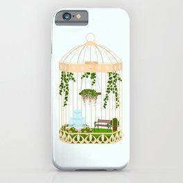bird cage garden iPhone Case