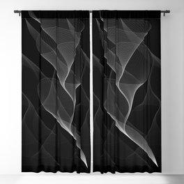 Black and White Flux #minimalist #homedecor #generativeart Blackout Curtain