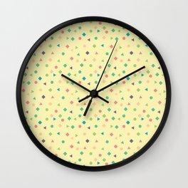 Pastel Shapes Wall Clock