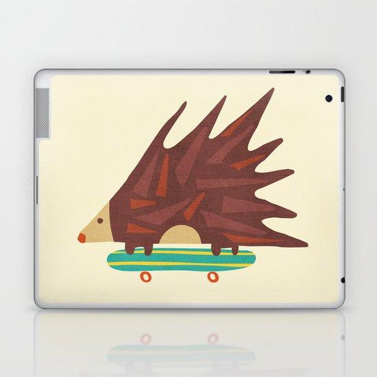 Hedgehog in hair raising speed Laptop & iPad Skin